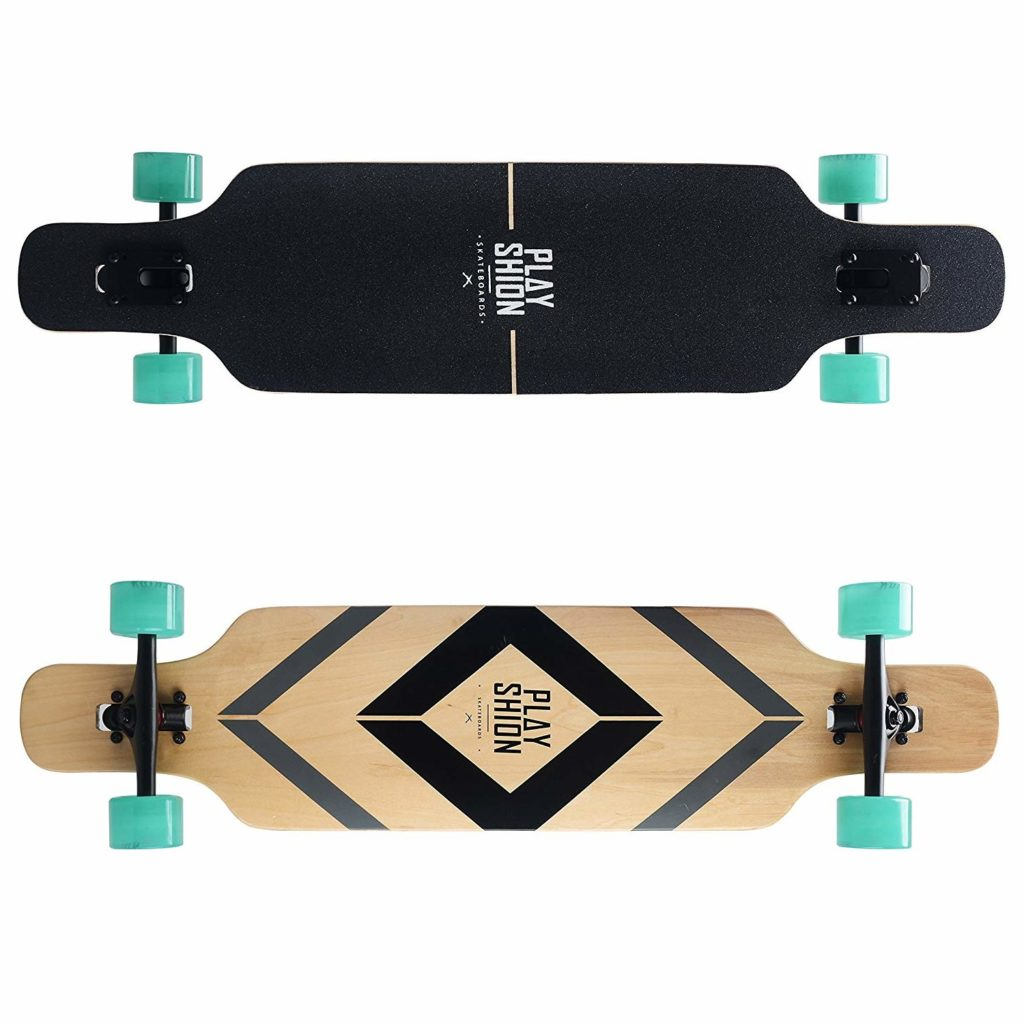 Playshion Longboard Drop-Through Freestyle Cruiser – 39 inch