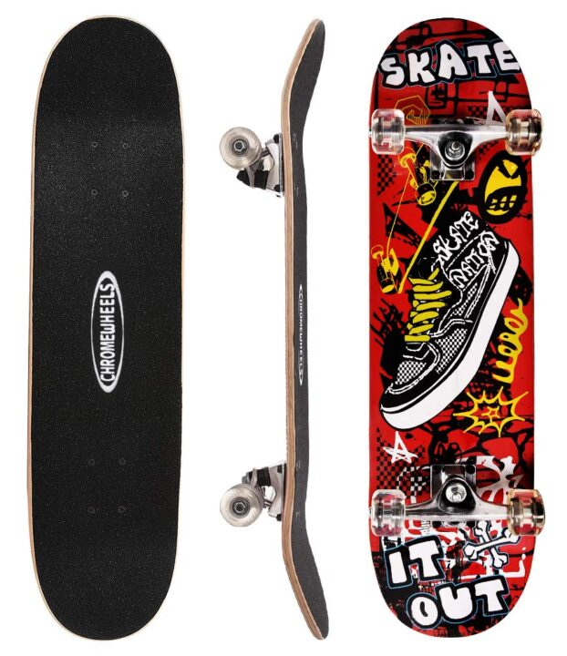 Chrome Wheels 31 inch Skateboard Complete Review