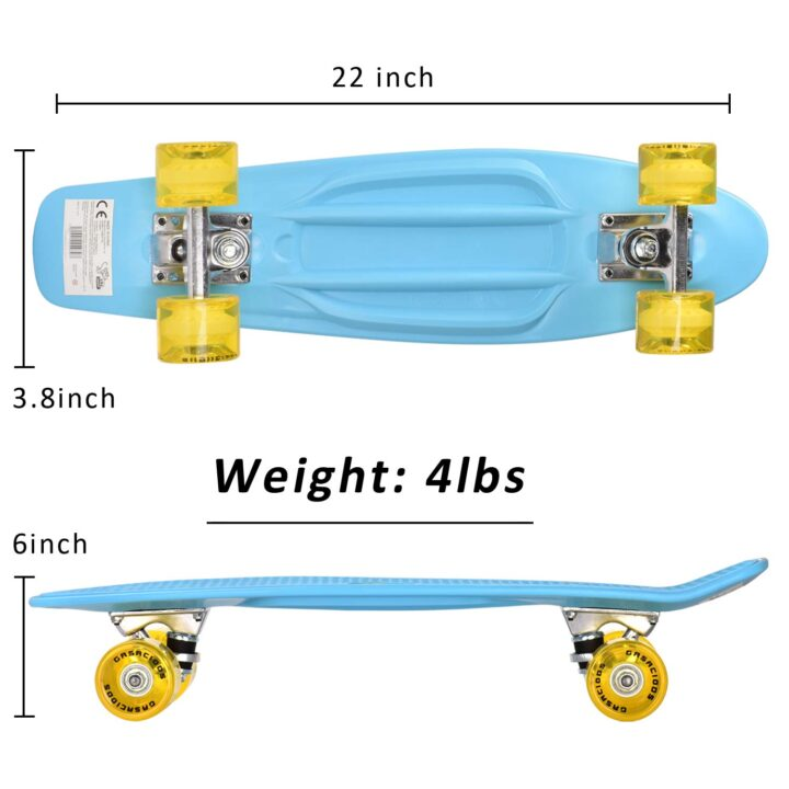 GASACIODS 22 Inch Mini Cruiser Skateboard