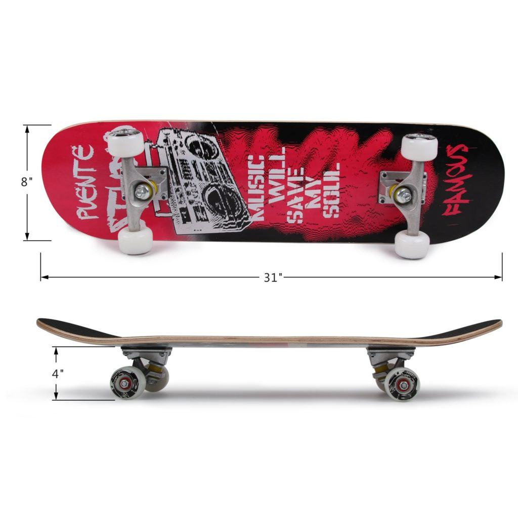 PUENTE 31 inch Complete Skateboards